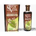 Оцветяващ шампоан за коса интензивен - тъмно кафява-Natur Vital