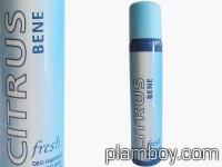 Дамски дезодорант Citrus bene fresh сравнен със синьо C-True